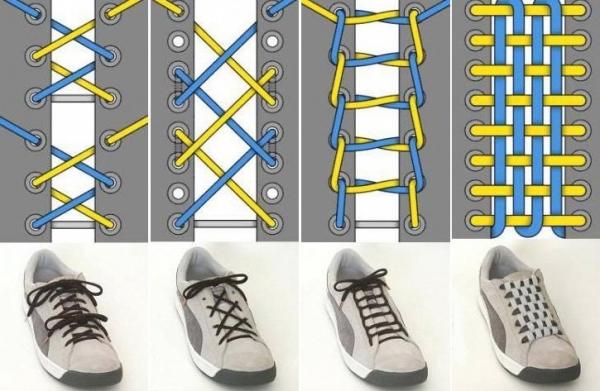 способы красиво зашнуровать шнурки модернизации отечественных реактивных