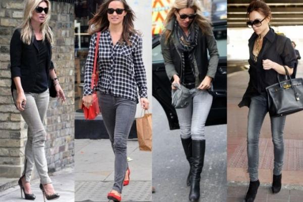 З чим носити сірі джинси жіночі або чоловікові 705e6722dae29