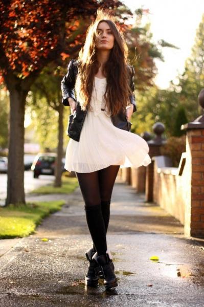 З чим носити біле плаття  короткий f01a5a6012b1f