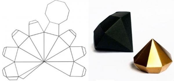 Как из бумаги сделать алмазы 835